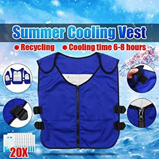 Beauti-chen Cooling Ice Vest Women Men Summer Cooling Vest Ice Vest Outdoor Riding Fishing Cooling Vest for Cycling Outdoor Activity Calm Reasonable