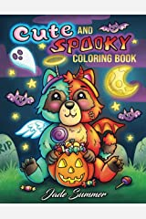 Cute and Spooky: A Halloween Coloring Book for Adults and Kids with Cute Characters, Spooky Scenes, and More! Paperback