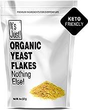 It's Just - Organic Nutritional Yeast Flakes (Nooch), Tastes Like Cheese, Vegan, Keto Friendly, Fortified, 8oz
