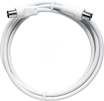Axing BAK 200-80 - Cable coaxial de antena (2,0 m), color blanco