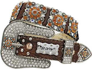 886 EXOTIC COWHIDE WESTERN WOMENS BELTS Cowgirl Bling Belts Rodeo Belts Plus Size Western Belts For Cowgirls