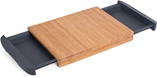 Internet's Best Bamboo Cutting Board with Removable Drawer | Prep Storage | Chopping Slicing Wood Block Kitchen Board