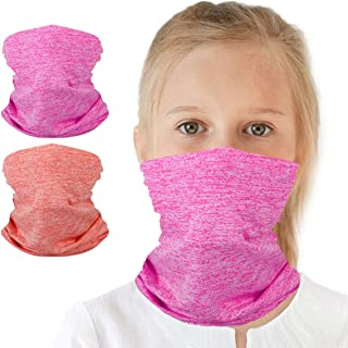 6-14 Years Olds Kids UV Protection Face Cover Neck Gaiter...