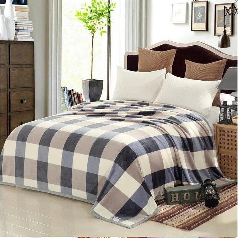 Simonshop Super Soft Thick Flannel Blankets Fleece Air Condition Warm Blankets (120cm200cm, bluee)