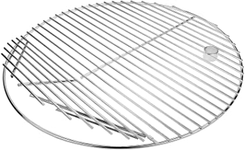 Grisun 19.5 Inches Diameter, 304 Cooking Grate Grids for Kamado Ceramic Grill Like Pit Boss K24, Louisiana Grills K24, CharGriller 16620, 20 inches Barbecue Solid Rod Stainless Steel Round Grill Grate