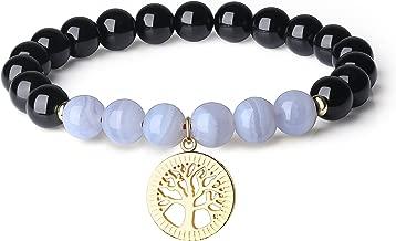 COAI Womens Prayer Tree of Life Black Tourmaline Bracelet