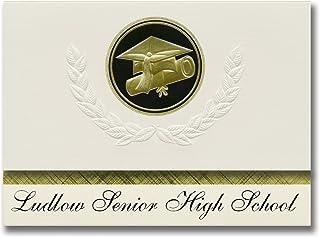 Signature Announcements Ludlow Senior High School (Ludlow, MA) Graduation Announcements, Presidential style, Elite package...