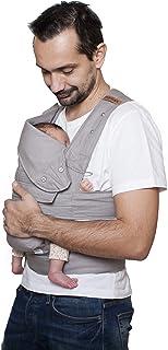 marsupi Baby- en kinderdrager, Breeze (van lichte katoen-linnenmix) versie 2.0 (XL, lichtgrijs/lichtgrijs)