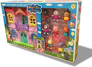 Beautiful Villa -House With Lights And 8 Figures For Ages 3+ By SHOP ON THE GO