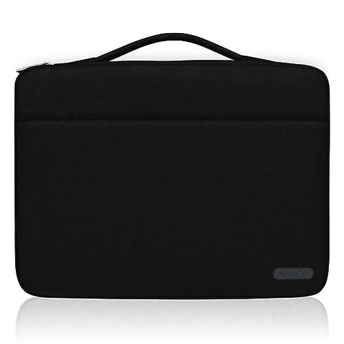 ARVOK 15 15.6 Inch Water-Resistant Canvas Fabric Laptop Sleeve with Handle & Zipper Pocket