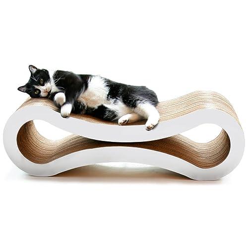 PetFusion Ultimate Gato rascador Lounge, tamaño Grande, diseño de Nube, Color Blanco