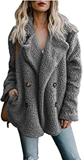 Welcometoo Faux Lambswool Oversized Jacket Coat Warm Women Outerwear Plus Size Fur Jacket Over Coat