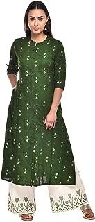 Pistaa's Women Cotton Flex Floral Gold Printed Salwar suits Set