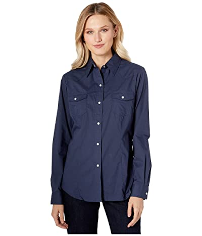 Roper 9837 Solid Broadcloth Navy (Blue) Women