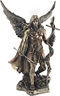 CAPRILO. Figura Decorativa Mitológica de Resina Bronce Arcangel San Gabriel. Adornos y Esculturas. Decoración Hogar. Regal...