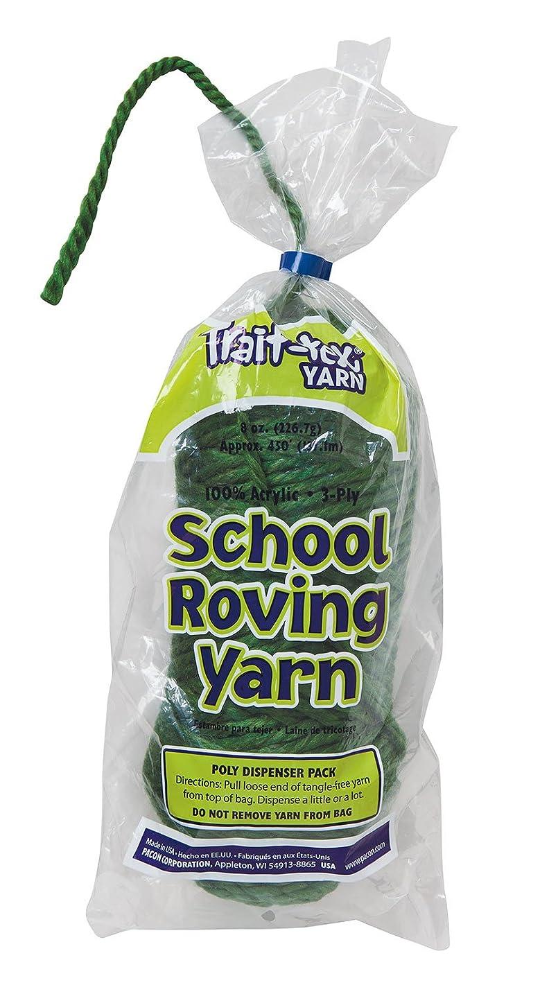 Trait-tex 3-Ply School Roving Yarn Skein, Dark Green, 150 Yards