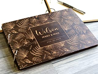 8х12, 6х8 inches - 30-50 pages Wedding Guest Book Alternative Custom Wedding Guestbook Rustic Guest Book Personalized Wedding Guest Book Wooden Landscape Photo Guest Books Handmade Custom Engraved