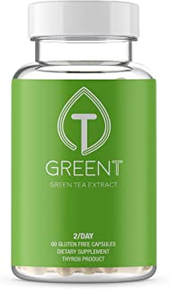 Green Tea Extract 630mg from Thyro8 - 60 Capsules for Healthy Boost - EGCG Natural Energy & Immune Support, Increased Meta...