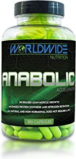 Worldwide Nutrition Anabolic Accelerator Supplement - Muscle Growth, Strength, Recovery, Power - Plant-Based, Workout Perf...