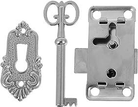 Angoily 2 Sets Vintage Deurslot met Sleutel Klassieke Lade Legering Lock Case Box Lock met Sleutel Kast Decoratieve Lock