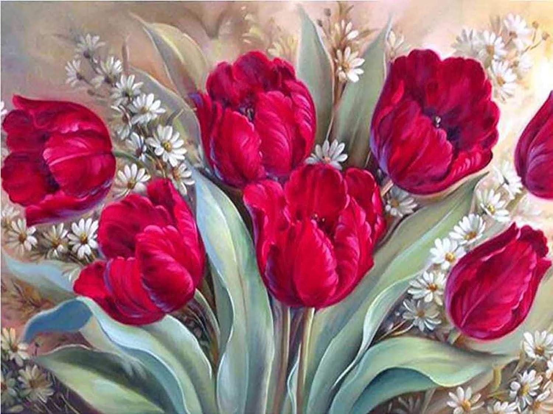 Theshai 5D Diamond Painting Flower Paint Kit Free shipping with Rose 2021 model Diamonds
