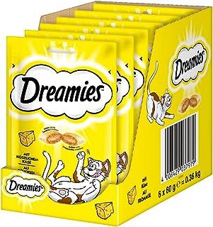 Dreamies Kattsnacks, Gul, Ost, 60 g, 6 st