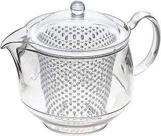 曙産業 ティーポット クリア LL 日本製 透明でお茶の出具合がよく見える プラスチック製で割れにくい 水切れがよく注ぎやすい 目詰まりしにくいプラスチック製ストレーナー クリアティーポット TW-3733