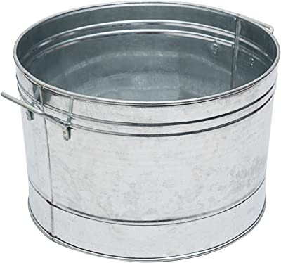 Achla Designs C-50 Galvanized Steel Round tub, Standard