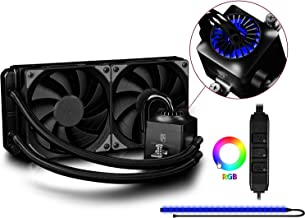 DEEPCOOL Gamer Storm CAPTAIN 240EX RGB CPU Liquid Cooler with Controllable RGB LED Lights System Visual Liquid Flow 120mm PWM FAN AM4 Compatible