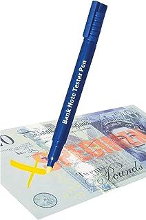 Toyvian 10pcs denaro pennarello penna soldi falsi rivelatori marker banconote contanti tester valuta Checker penna blacklight per falsi soldi Bill rilevamento blu