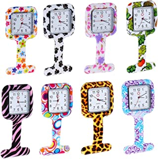 Weicam Square Silicone Nurse Doctor Wholesale Pin-on Brooch Watch Pocket Watches