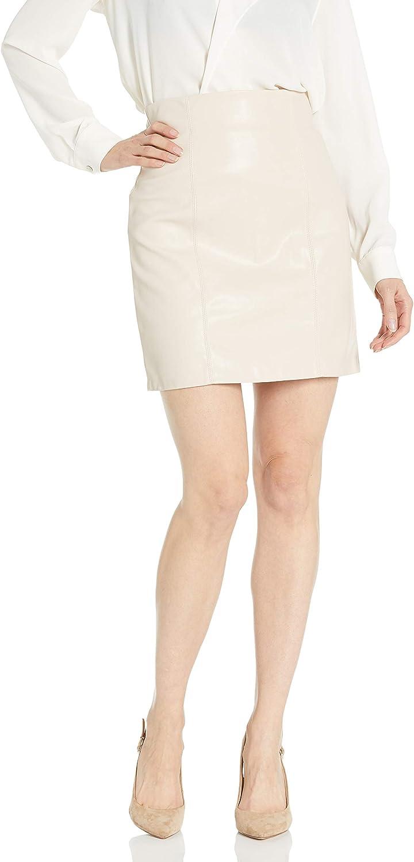 BB Dakota by Steve Madden Women's Girl Crush High Waisted Vegan Leather Skirt