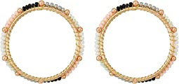 Front Facing Beaded Hoop Earrings