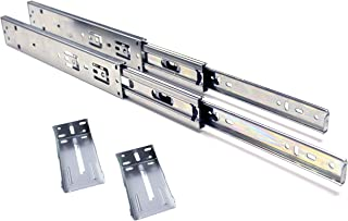 10 Pack Berta, Full Extension, Push to Open, Ball Bearing, Side Mount Drawer Slides for Face Frame Cabinets with Rear Brackets 10-Inch 100Lb Load Rating (10 Pairs)