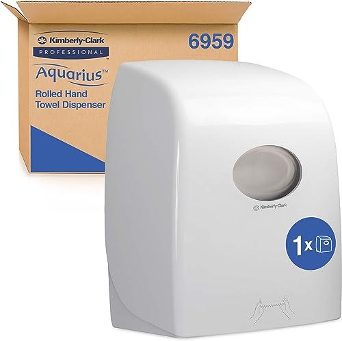 Distributeur d'essuie-mains roulés Aquarius 6959 - Blanc