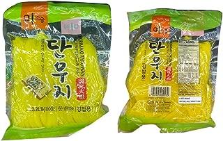 Korean Norimaki Takuwan Yellow Pickled Radish (sliced) 단우지 调味大根 2.2lb - Total of 2 units