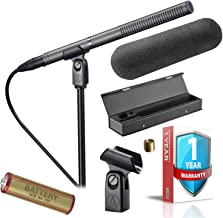 Audio-Technica AT897 Line + Gradient Condenser Microphone - Includes - Windscreen, Carrying Case, AA Battery and Extended Warranty