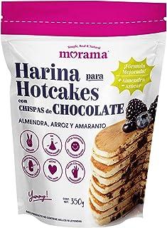 Morama, Harina para Hotcakes con chispas de chocolate hecha con mezcla de harina de almendra, arroz y amaranto, sin conser...