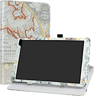 Barnes & Noble Nook 10 (BNTV650) Rotating Case,LiuShan 360 Degree Rotation Stand PU Leather with Cute Pattern Cover for 10.1