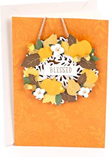 Hallmark Signature Thanksgiving Card (Removable Wreath Ornament)
