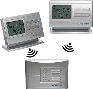 COMPUTHERM Q8RF Multi-Zona: 2 x termostatos digitales programables inalámbricos & 1 regulador móvil para calefacción, aire...