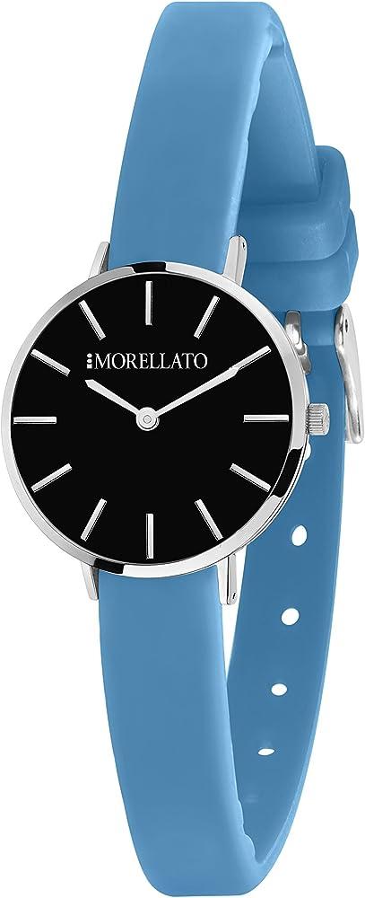 Morellato, orologio analogicoal quarzo per donna, con cinturino in silicone e cassa in ottone R0151152504