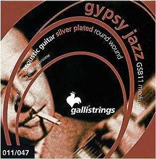 Galli GSB11 GYPSY JAZZ Silverplated Wound, Ball End, medium