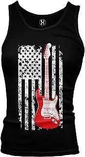Haase Unlimited Guitar American Flag - Musician Guitarist Juniors Tank Top