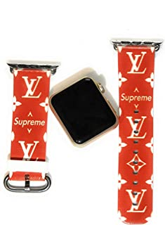 LV Street Fashion Replacement Band for Smart Watch Apple Compatible Band Series 2 3 4, Size 38mm/40mm