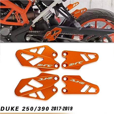 Motorrad Aluminium Vorne Hinten Fußraste Fersenschutzhülle Bremszylinder Schutz Für Ktm Duke 125 Duke 250 Duke 390 2017 2018 2019 2020 Orange Auto