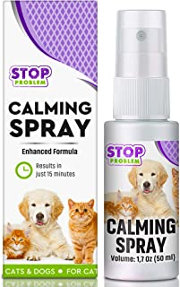Beloved Pets Pheromone Calming Spray for Cats and Dogs with Long-Lasting Effect - Enhanced Calm Formula of Anxiety Relief & Behavior Control - Best Natural Stress Prevention for Pets