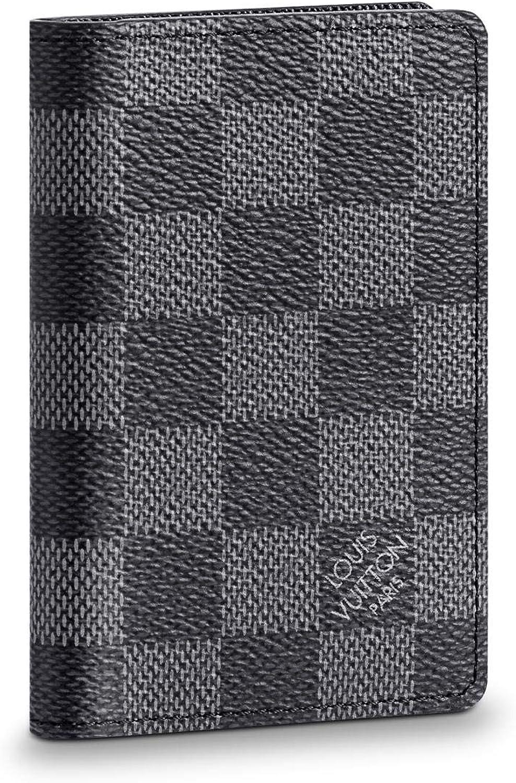Louis Vuitton Pocket Organizer Damier Graphite Canvas Wallet Car