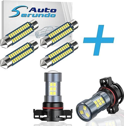 discount Serundo Auto 578 Led Bulb online sale 211-2 Led Festoon Bulb + 2504 LED Fog outlet online sale Light Bulbs online