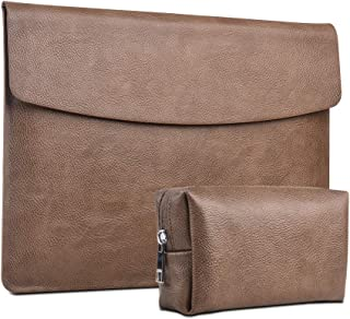 XISICIAO, Quakeproof case Tailor Made for Microsoft Surface Pro 6, Pro 5(2017 Released) Pro 4 12.3 Inch Laptop Sleeve Cover Polyester Carrying Briefcase Portfolio with Small Bag (Brown)
